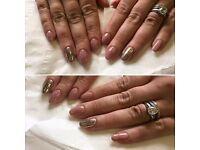 Acrylic nails and makeup