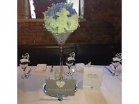 £5 Martini vase. £90 starlight backdrop with drapes. hire only