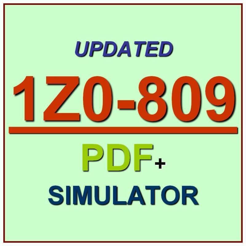 Latest 1Z0-809 Verified Practice Test Exam QA SIM PDF+Simulator