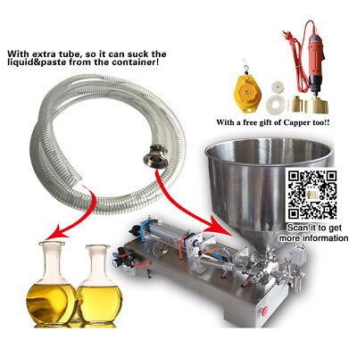 With 1 Tube 2500ml Pneumatic Filling Machineautomatic Honeycream Piston Filler