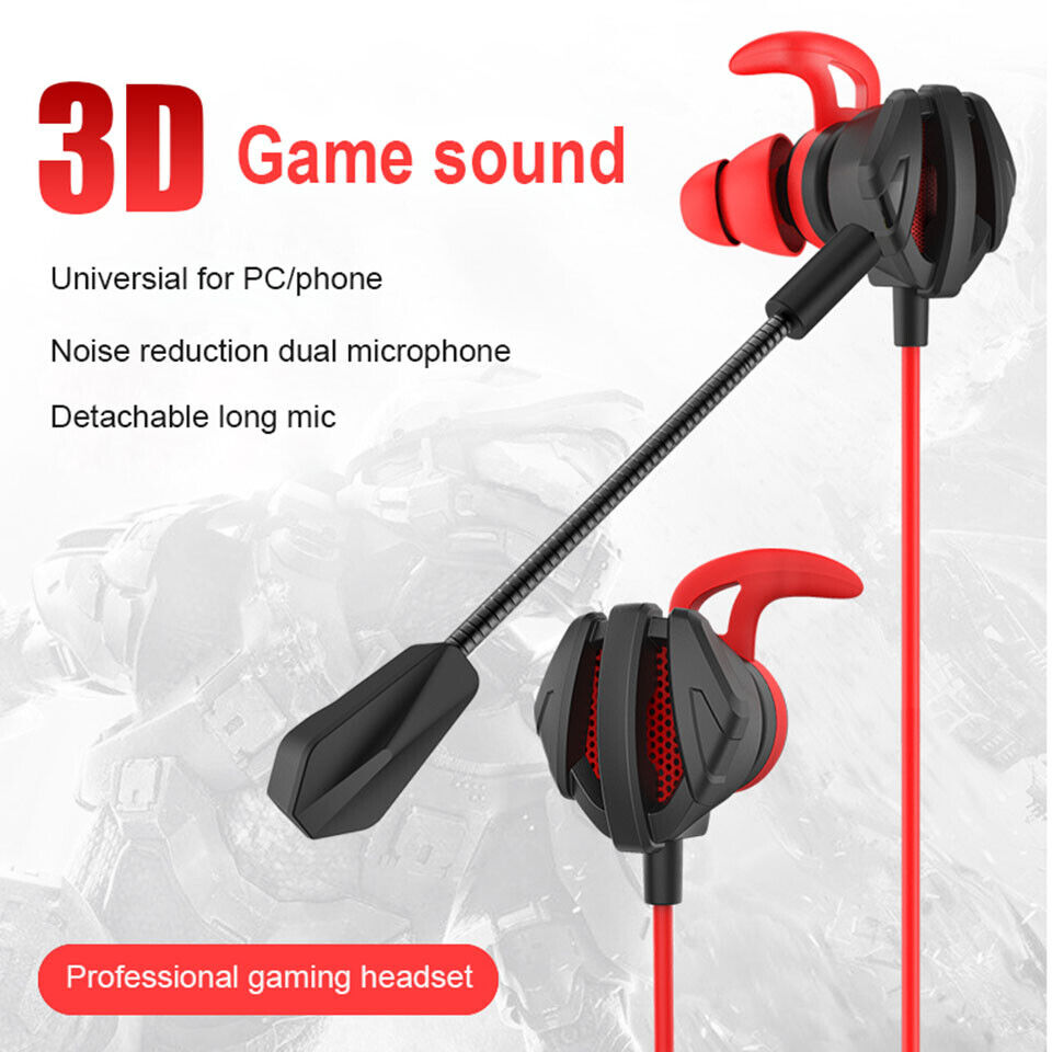 g6 gaming headset wired headphone in ear