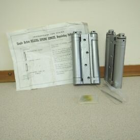 TWO Pair of Double Action Spring Hinges Silver Free Post (F)