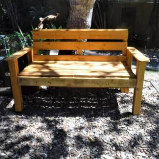 RUSTIC, RECYCLED TIMBER PARK BENCH