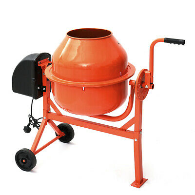 Portable Electric Cement Mixer 63L 220W Concrete Mortar Plaster Mixing Machine