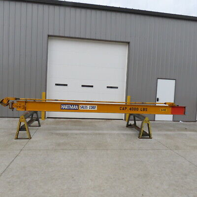 4000lb 2 Ton Capacity Wall-mount Overbraced Tie-rod Jib Crane 232 Swing