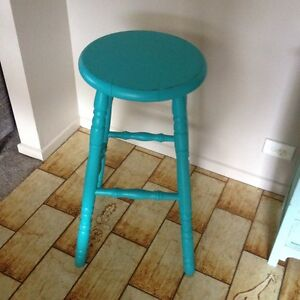 Shabby Chic Aqua Stool X1 - Great Condition Ashmore Gold Coast City Preview