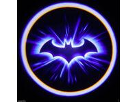 2 x 3D BAT DOOR LED LOGO COURTESY LIGHT LASER GHOST PROJECTOR SHADOW LITE BATMAN