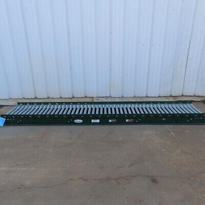 Rapistan Dematic 25x 144 Gravity Roller Conveyor 22bf X 1.90 Diam 3 Centers