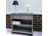 Upcycled bookcase/hall table with drawers