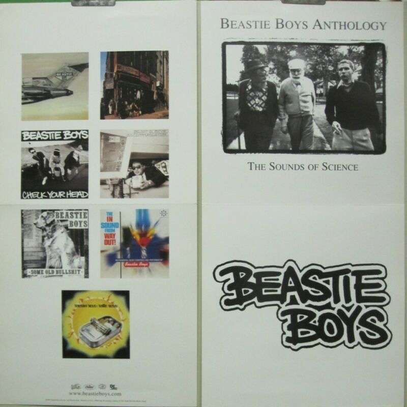 Beastie Boys 1999 Anthology 2 sided promotional poster Flawless New Old Stock