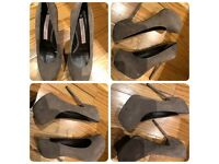 GIANMARCO LORENZI COUTURE TAUPE SHOES PUMPS HEELS 38EU-Made in Italy