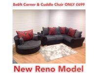 SUPER DEAL NEW RENO 8ftx6ft corner and CUDDLE only £699