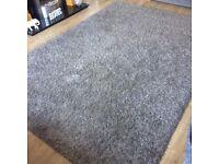 Twilight Silver Grey Shaggy Rug 200x290 Super Heavy Pile, Luxuriously Soft, non shedding,