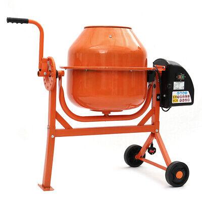 Portable Electric 63L Concrete Cement Mixer Mortar Mixing Machine Building Tools