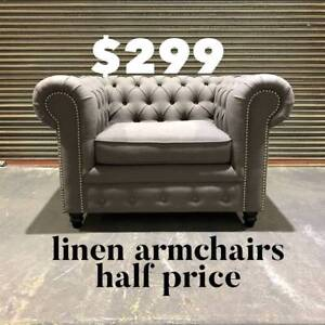 """""""VICTORIA"""" ARMCHAIRS - ON SALE NOW - $299 Epping Whittlesea Area Preview"""