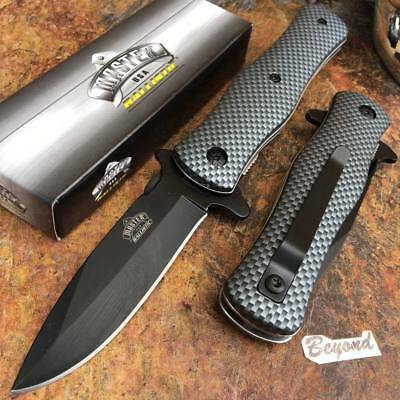 Knife - MASTER USA Carbon Fiber Tactical Hunting Rescue Pocket Folding Knife MU-A006CF