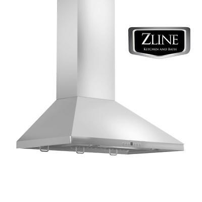 "36"" ZLINE Kitchen WALL RANGE HOOD STAINLESS BAFFLES LED KF1-36"