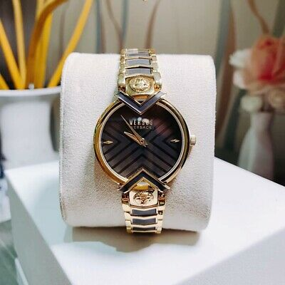 Versus Versace Womens Mabillon Watch VSPLH1319 NWt $310 Black/Gold