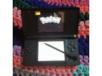 Nintendo DS lite black + Pokemon diamond, Super Mario bros, Brain training