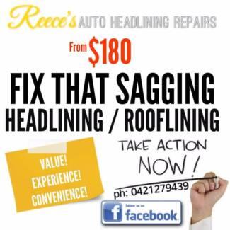 Reece's Auto Headlining Repairs / Fix Sagging Car Rooflining