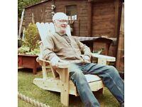 american style wooden garden chair, brand new.
