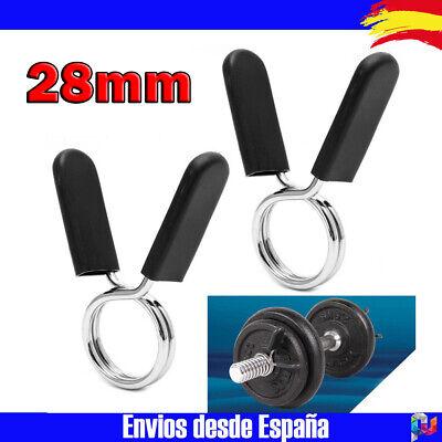 Abrazaderas pinzas para barra De Pesas Gym Gimnasio 28mm