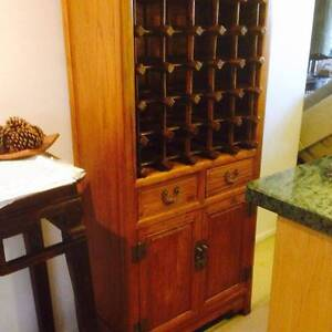 Oriental style quality and solid timber wine cabinet sideboard East Brisbane Brisbane South East Preview