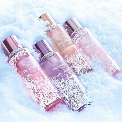 ♡ NEW! Victoria Secret Frosted Mist Spray Bare Vanilla Lovespell Velvet Petals ♡