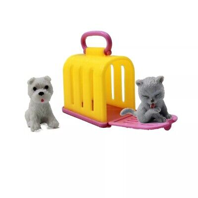 Doll Accessories Fashion Mini Doll Pets Dog Cat House For Barbie