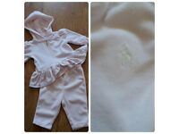 Ralph Lauren Pink Tracksuit Size 3 Months **Great Condition** Baby **From a smoke free clean home**