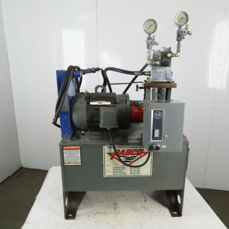 2Hp 17 Gal. Hydraulic Power Unit 208-230/460V 3ph W/Accumulator & Heat Exchanger