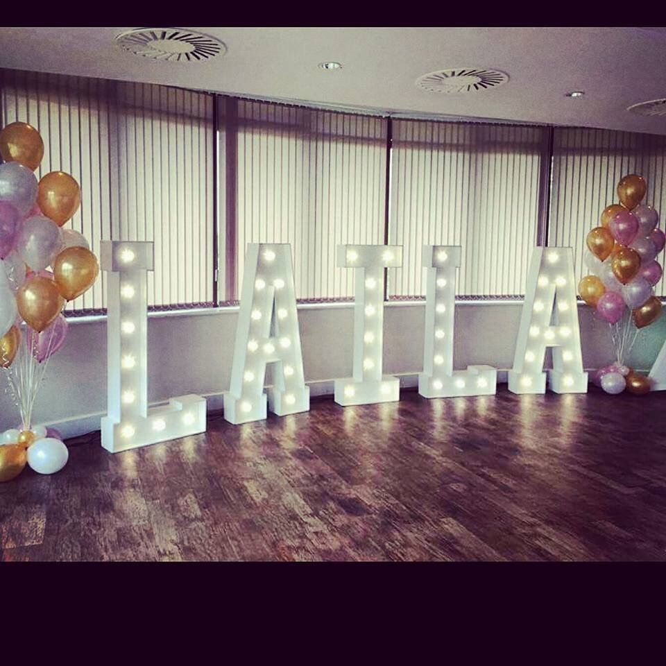 Hire our stunning 5ft 'Light Up Letters', *Special OFFER* book 5 or 6 letters for £250