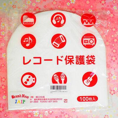 "TAGUCHI☆Japan-100pcs Stat Disc File Plastic Inner Sleeves 12"" Record LP ,JAIP."
