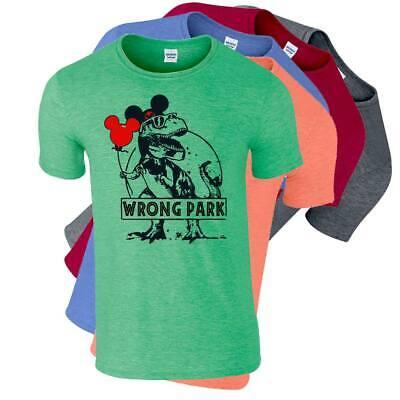 Wrong Park T-Rex Jurassic Park & Disney World Vacation Mash Up T-Shirt