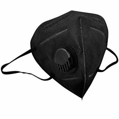 10 x FFP3 Mund- Nasenschutz 5 lagig mit Ventil Einwegmasken CE 0370 schwarz