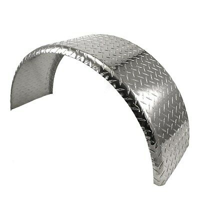 28x8 Aluminum Tread Plate Trailer Fender -Single Axle Round MCFA124