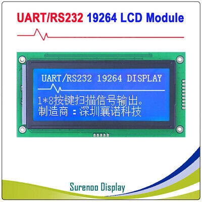 4.0 192x64 19264 Rs232 Uart Matrix Graphic Lcd Module Display Screen Panel Lcm