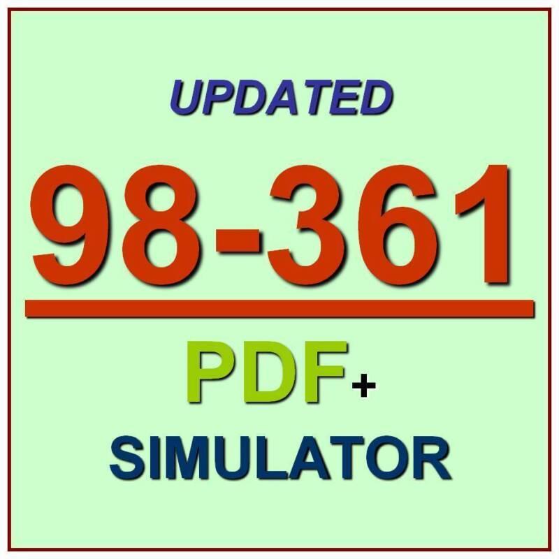 Latest 98-361 Verified Practice Test Exam QA PDF+Simulator
