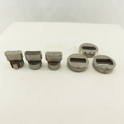 .750 X 2.000 Tol Oval Die Punch Cnc Turret 1.625 Punch Shank Lot Of 6