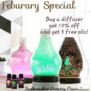 Diffusers 10% off + 3 free oils!