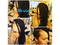 Mobile Afro hairdresser- Box Braids fr £35, crochet fr £25, Weave fr £15