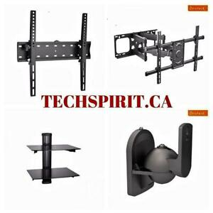 TV Wall Mount Fixed/Tilting/Full Motion/Corner/Ceiling/Projector Mount from $9.99