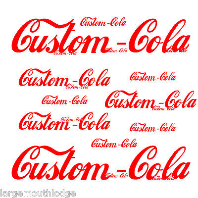 "CUSTOM SODA BOTTLE DECAL FOR LESS COLA 4"""