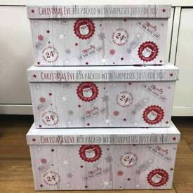 Xmas stacker boxes