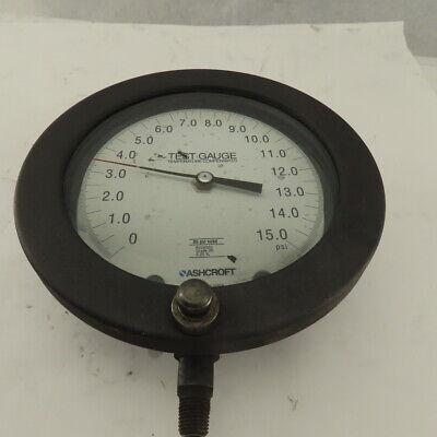 Ashcroft 0-15 Psi Temperature Compensated Test Gauge Bottom Ported 14 Npt