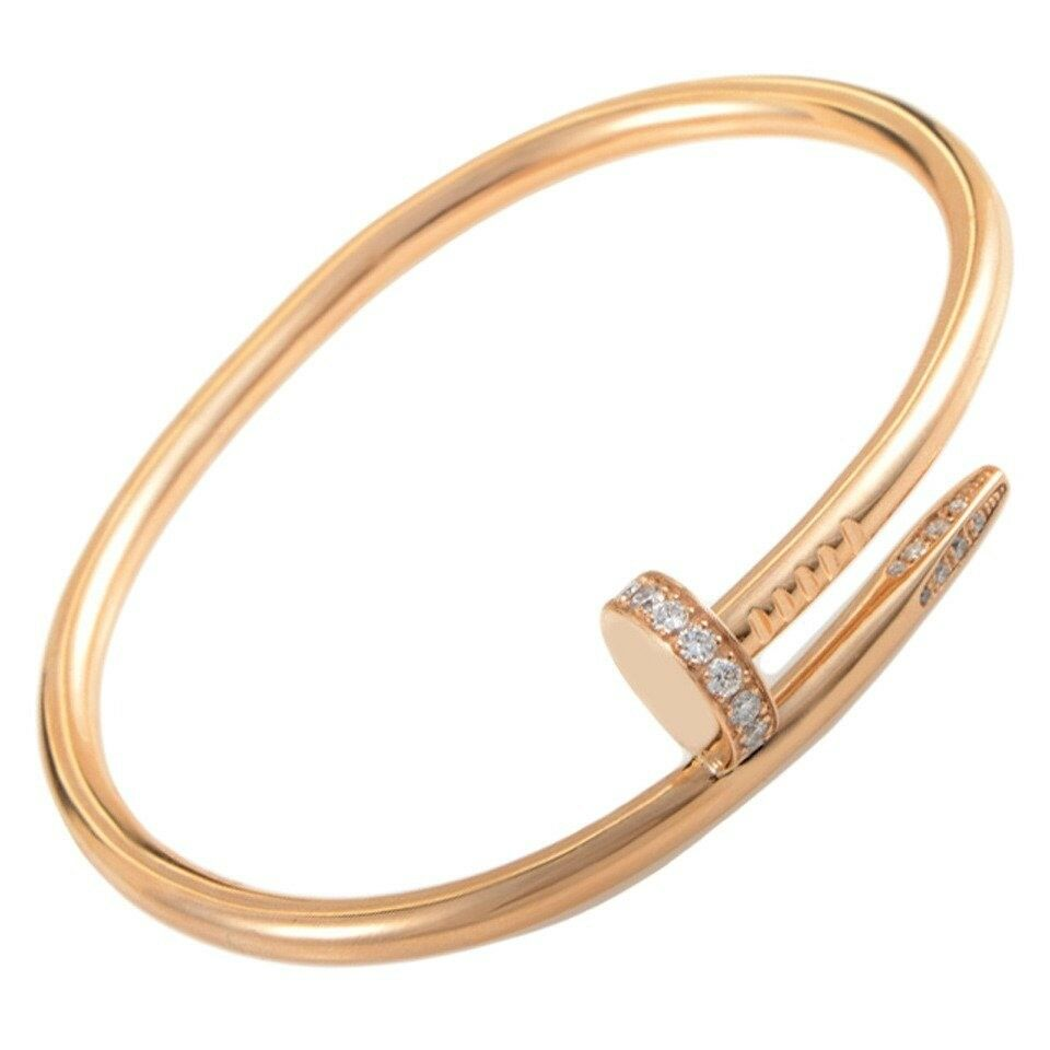 juste bracelet in collector gold en cartier pink square jewels un opening clou
