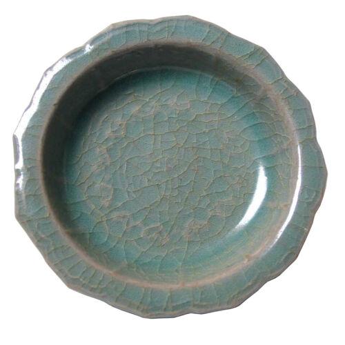 Antique Korean Small Koryo Celadon Rim Dish