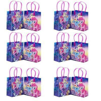 My Little Pony Goody Bags Birthday Party Favors Gift Loot Bags (12pc) - My Little Pony Bags