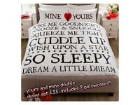yours and mine duvet set