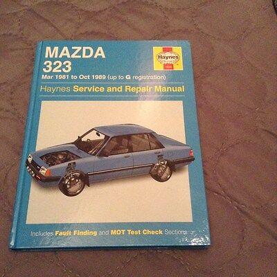 haynes workshop manual mazda 323 1981 - 1989 unused
